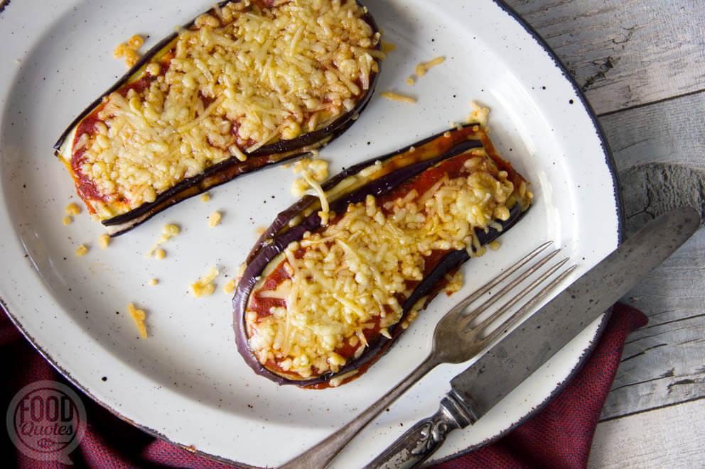 Simpele aubergine lasagne