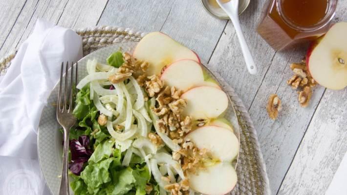 Salade met venkel appel walnoot