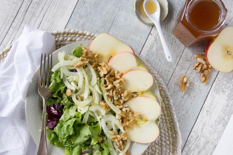 Salade met venkel, appel en walnoot