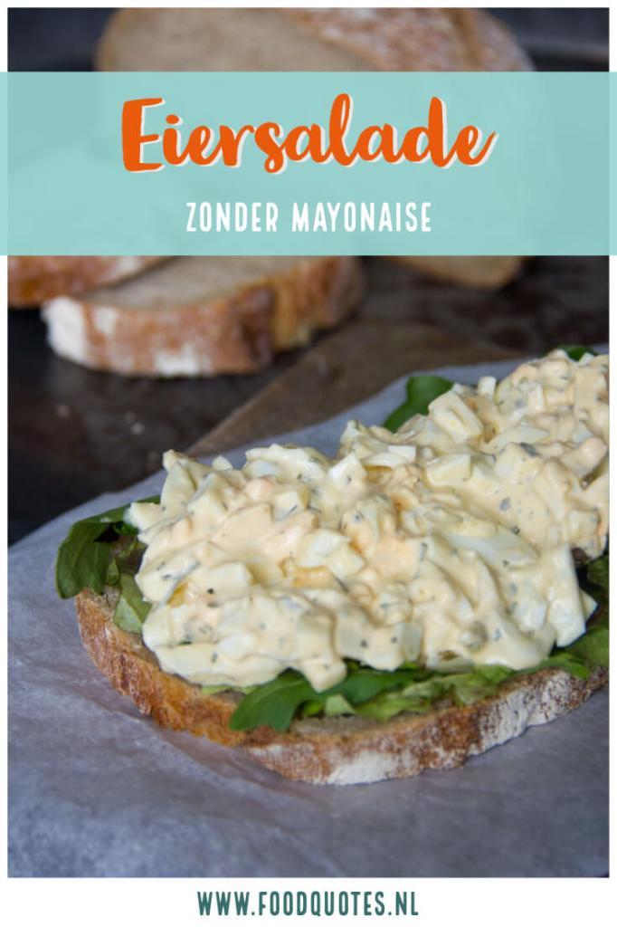 eiersalade zonder mayonaise