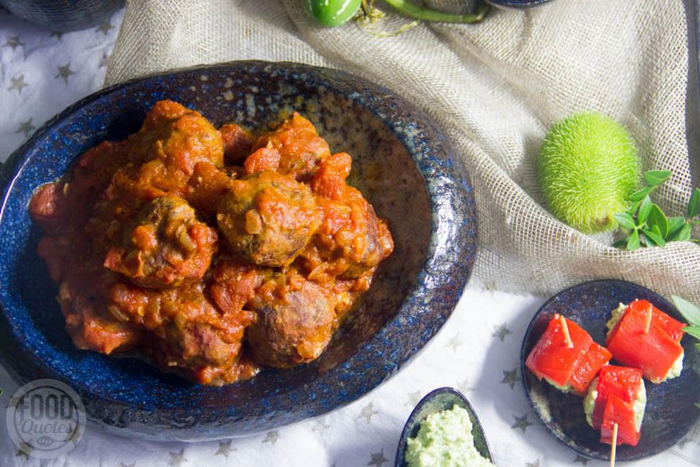 Albondigas (Spaanse gehaktballetjes in tomatensaus)