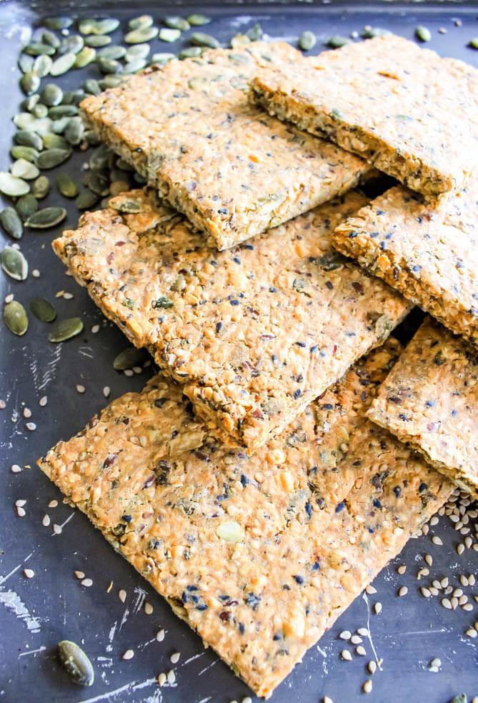 kaas-basilicum crackers