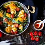 Turkse eieren met spinazie