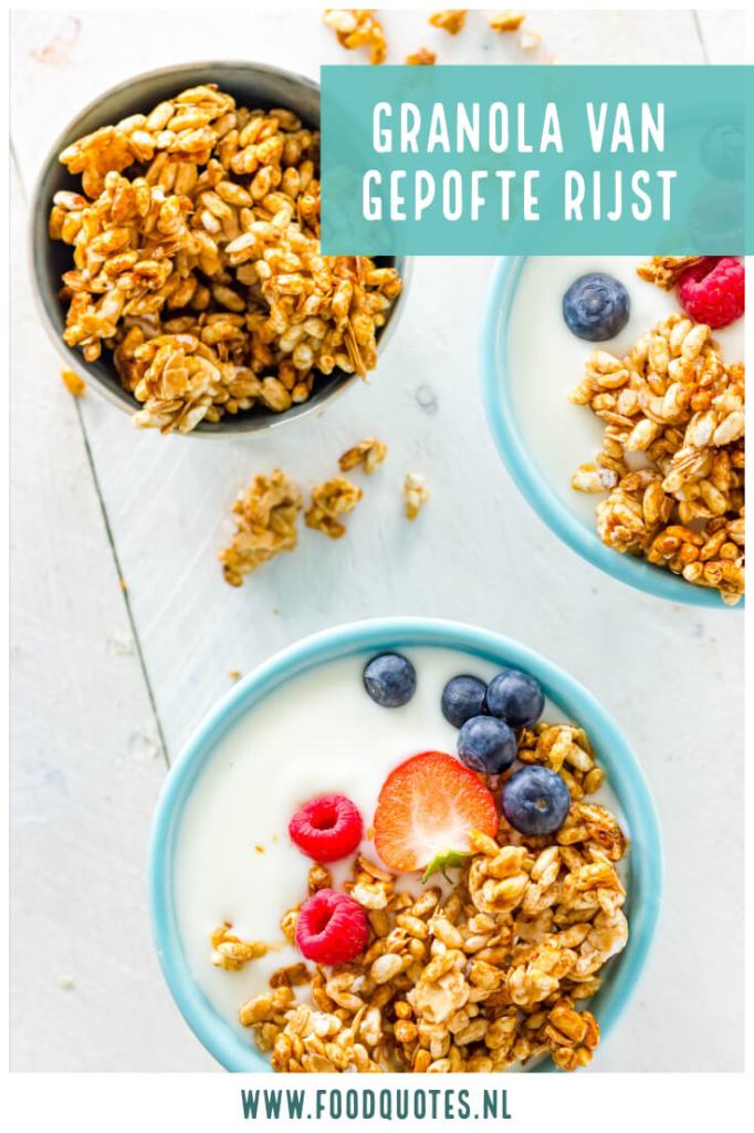 granola van gepofte rijst