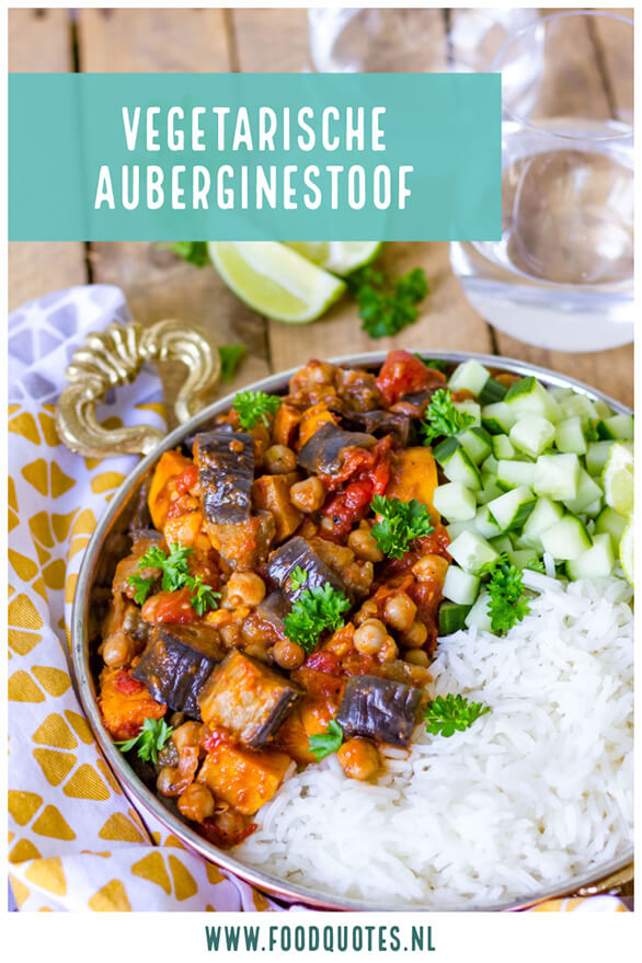 vegetarische auberginestoof