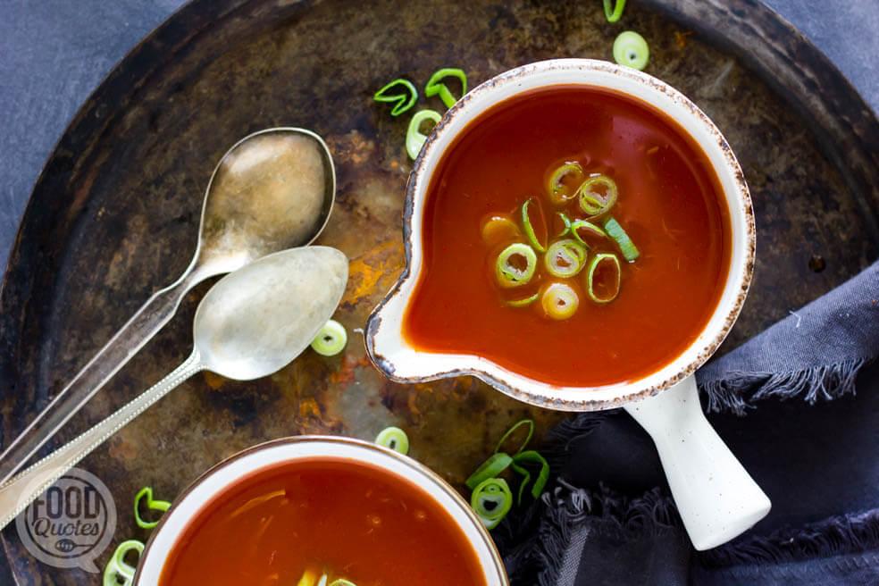 Makkelijke Chinese tomatensoep