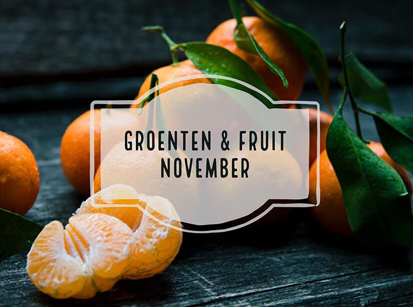 Seizoensgroenten en fruit van November