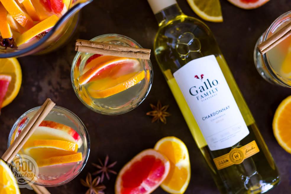 Herfst sangria met witte wijn
