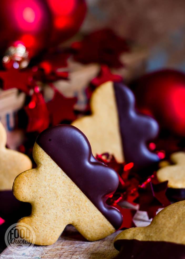 Peperkoekmannetjes met chocolade