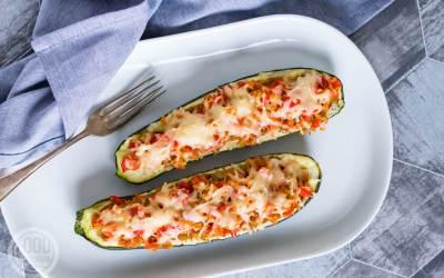 vegetarische gevulde courgette
