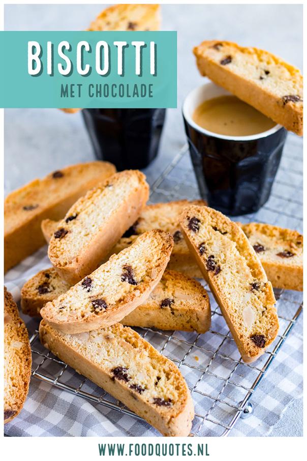 biscotti met chocolade