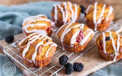 cupcakes met bosvruchten