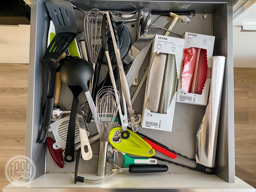 keukenlade opruimen en organiseren