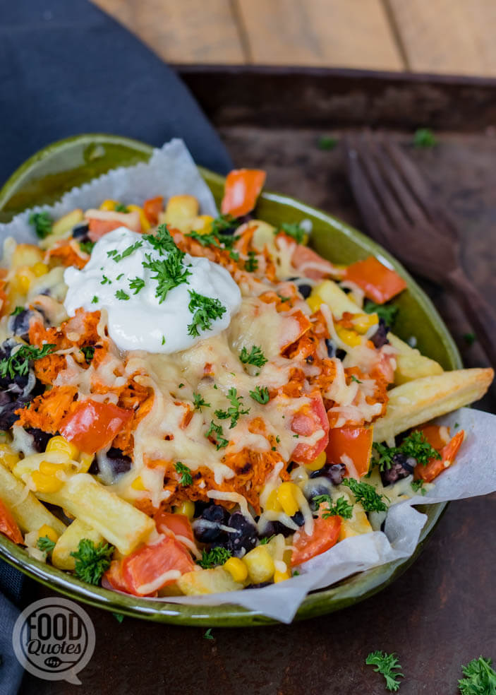 Mexicaanse loaded fries
