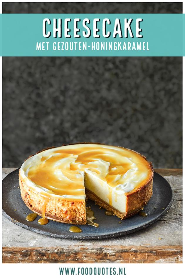 cheesecake met gezouten-honingkaramel