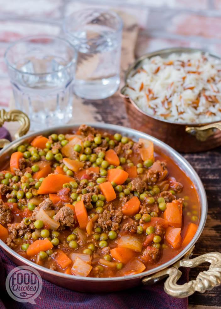 Turks gehaktpannetje met groenten