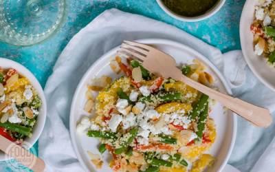 Couscoussalade met groenten en feta