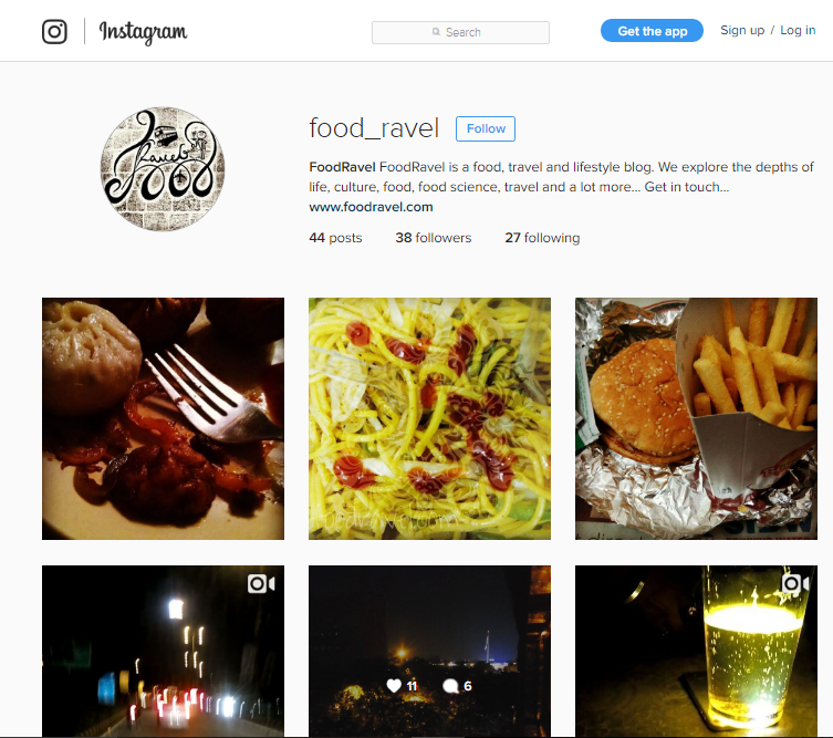 Foodie Moments on Instagram