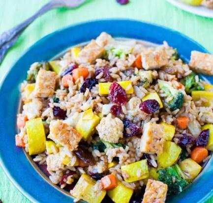 Hot rice salad food recipes