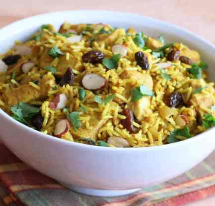 Chicken or mutton biryani