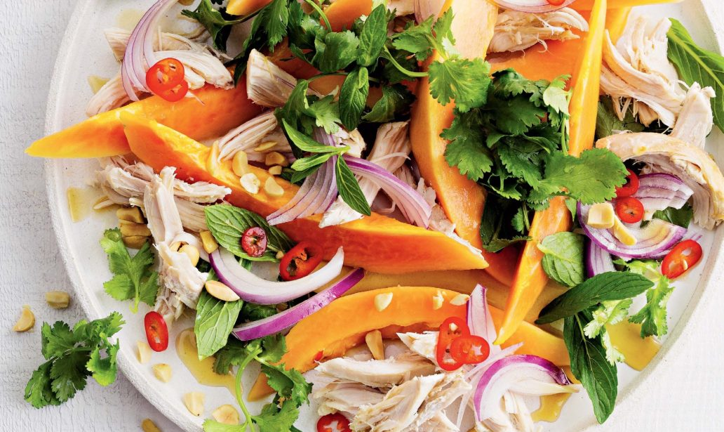 Chicken and papaya salad – Recipe 1