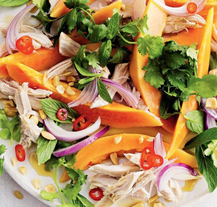 Chicken and papaya salad – Recipe 1