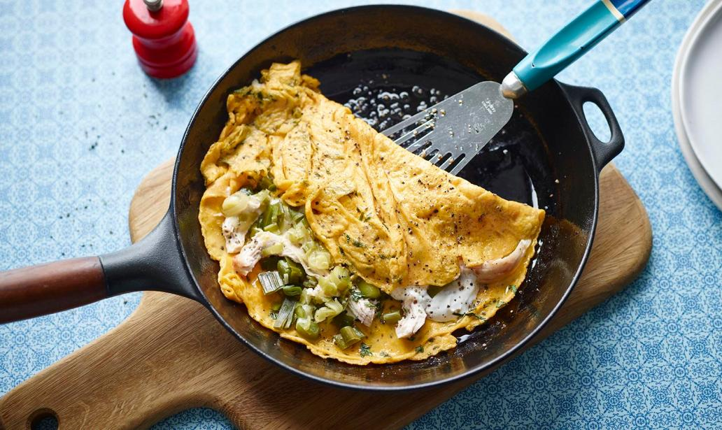 Chicken and tarragon omelette – Recipe 1