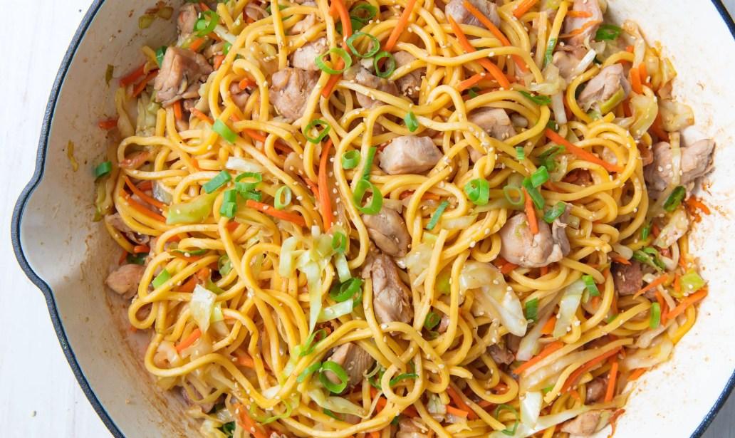 Easy chicken chow mein – Recipe 1
