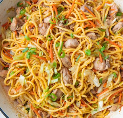 Easy chicken chow mein – Recipe 1