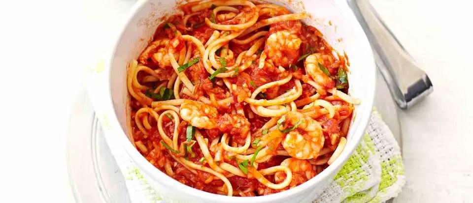 Healthy Prawn and tomato pasta – Recipe 1