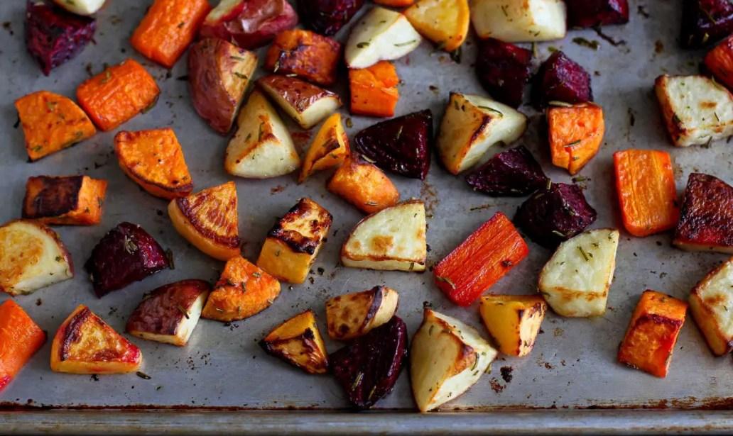 Roast root vegetables – Recipe 1