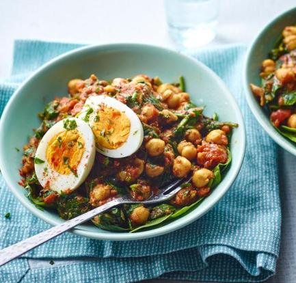 Chickpea, spinach and egg curry – Recipe 1