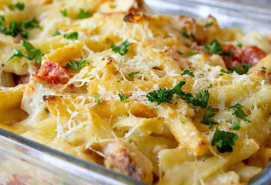 Chicken pasta bake food recipes