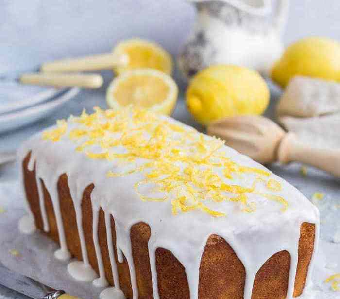 Vegan lemon drizzle cake: Recipe 1