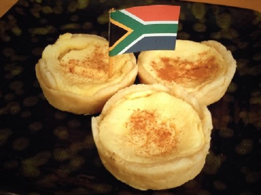Traditional South African mini Milk Tarts 1