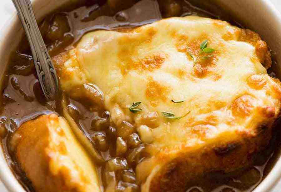 French onion soup is very easy to make  – Recipe 1