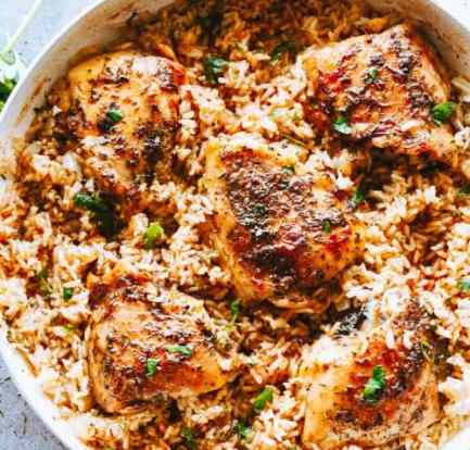 Healthy chicken and rice food recipes