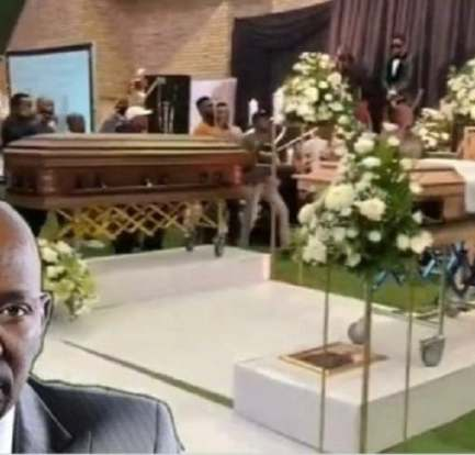 Photos: Inside actor Menzi Ngubane and his Dad's emotional double funeral service 5