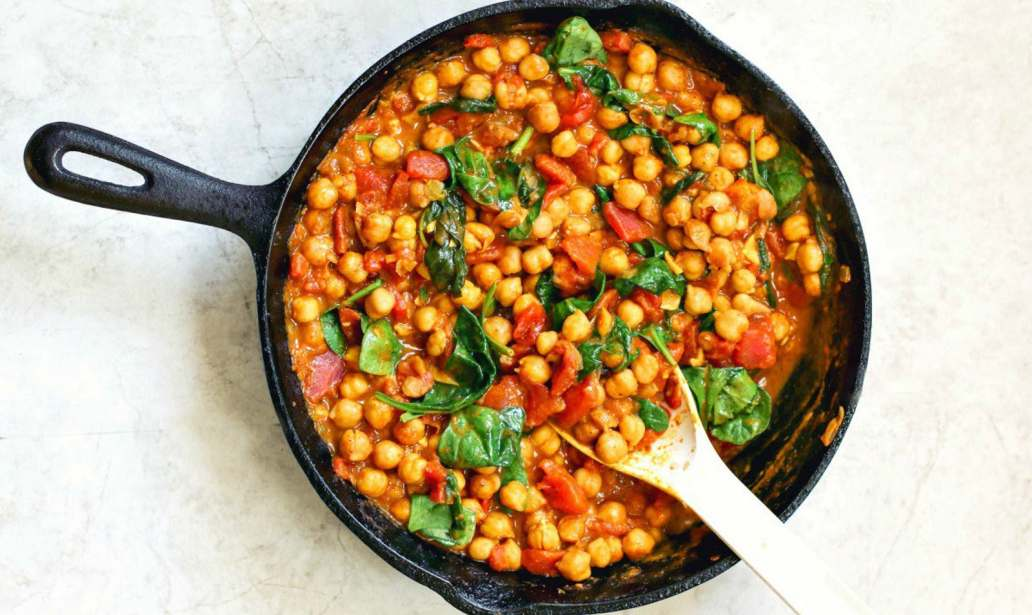 Mushroom, chickpea and spinach curry – Reipe 1