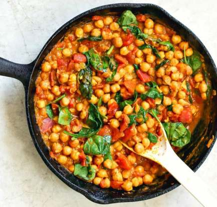 Mushroom, chickpea and spinach curry – Reipe 3