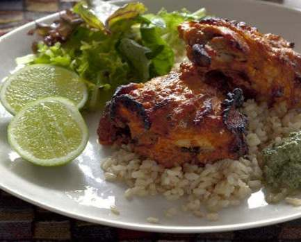 Masala chicken with minted yoghurt sauce – Recipe 8