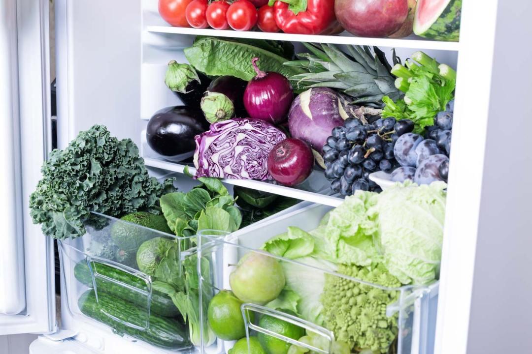 冰箱裡的新鮮農產品