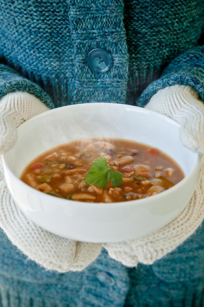 碗裡的手套湯