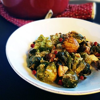 brussel sprouts with apples-and-chestnuts