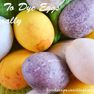 how to dye eggs naturally