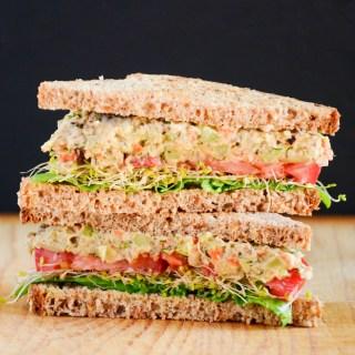 Sandwich Ideas: Chickpea Mock Tuna Salad