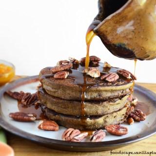 Pumpkin Peanut Butter Pancakes