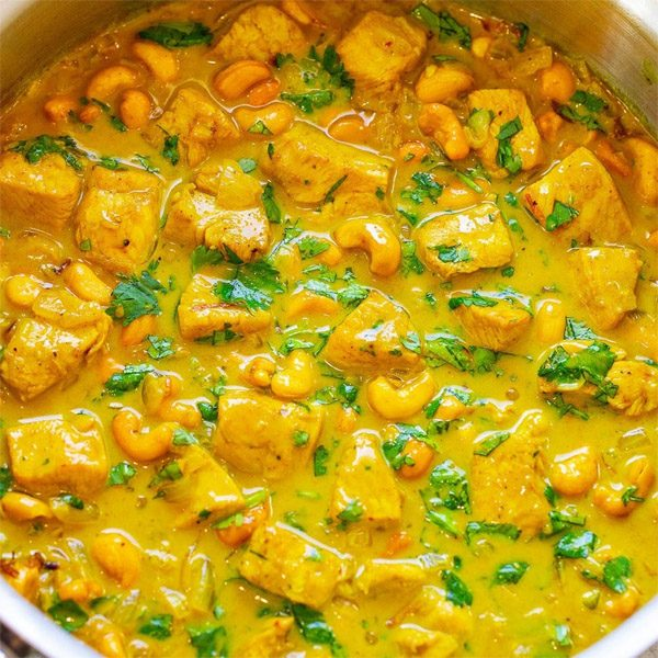 Chicken Coconut Curry for Indian Food Portland