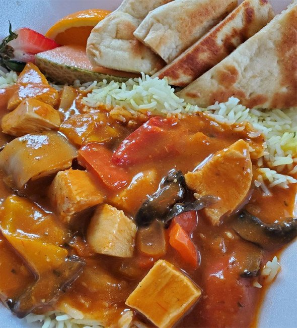 Spicy Butter Chicken with Basmati Rice