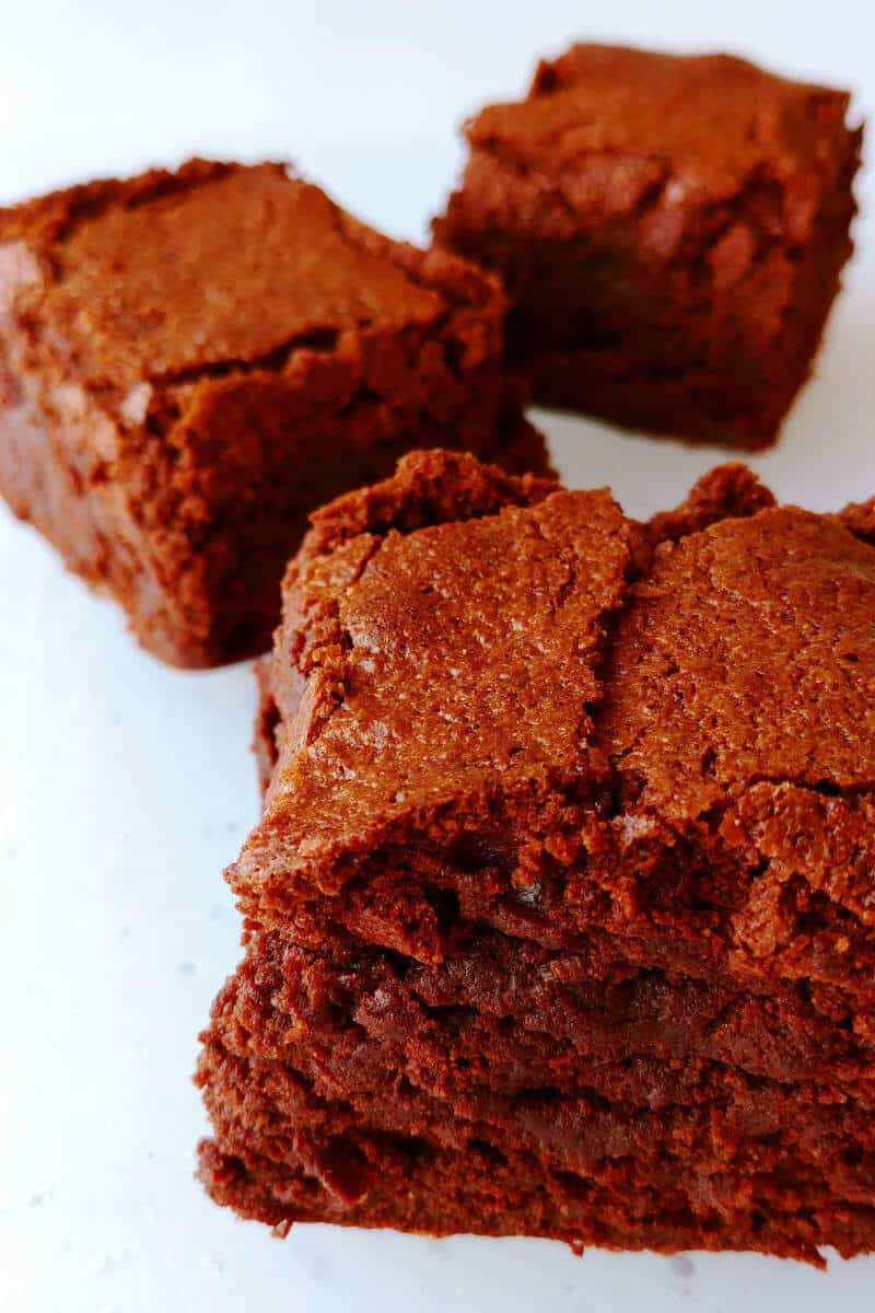 Alton Brown's Plain Ole' Brownies, lined up